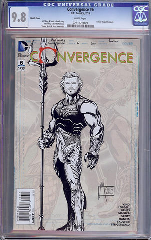 Convergence #6  CGC graded 9.8 - Sketch Cover - HIGHEST GRADED - SOLD!