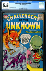 Challengers of the Unknown #01 CGC graded 5.5  unbelievable colors