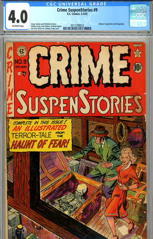 Crime SuspenStories #09 CGC graded 4.0 SOLD!