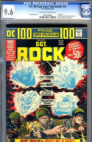 DC 100 Page Super Spectacular #16   CGC graded 9.6 - (Sgt. Rock) - SOLD!