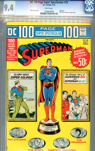 DC 100 Page Super Spectacular #18   CGC graded 9.4 - SOLD!