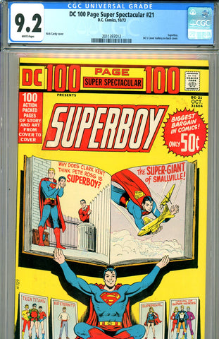 DC 100 Page Super Spectacular #21 CGC graded 9.2 WP SOLD!