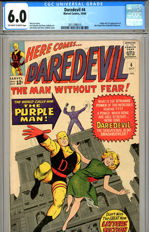 Daredevil #04 CGC graded 6.0 - first Purple Man SOLD!