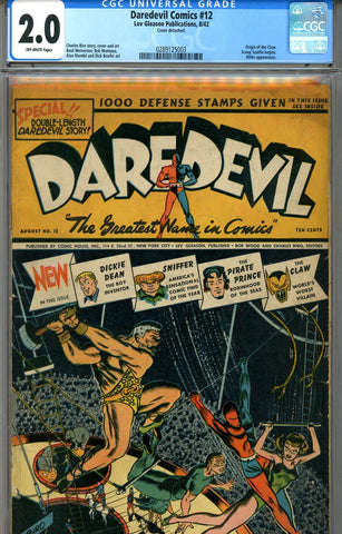 Daredevil Comics #12   CGC graded 2.0   SOLD!