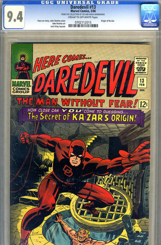 Daredevil #13   CGC graded 9.4 - SOLD