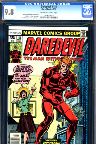 Daredevil #151 CGC graded 9.8 HIGHEST GRADED