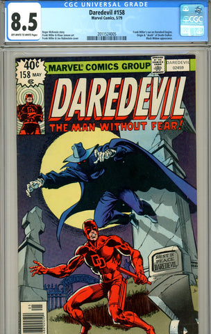 Daredevil #158 CGC graded 8.5 Frank Miller begins SOLD!