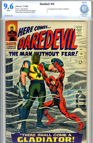 Daredevil #18   CBCS graded 9.6 - white pages - SOLD!