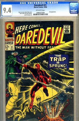 Daredevil #21   CGC graded 9.4 - SOLD