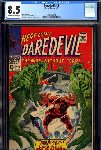 Daredevil #28 CGC graded 8.5 SOLD!