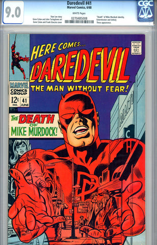 Daredevil #41  CGC graded 9.0 - white pages - SOLD!