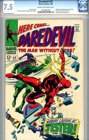 Daredevil #42  CGC graded 7.5 - SOLD!
