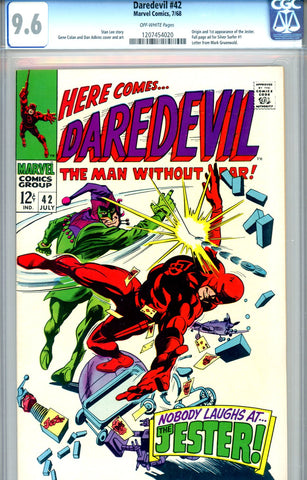 Daredevil #42  CGC graded 9.6 first Jester SOLD!
