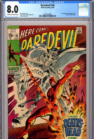 Daredevil #56 CGC graded 8.0 - first Death's-Head