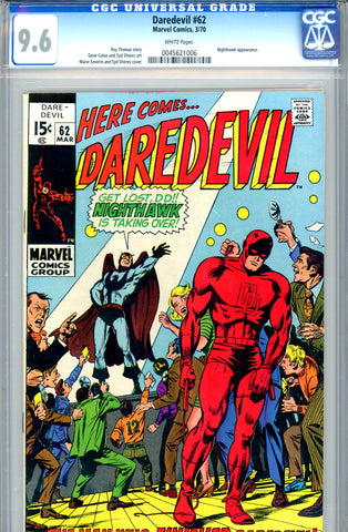 Daredevil #62 CGC graded 9.6 white pages
