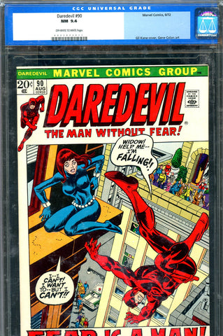 Daredevil #090 CGC graded 9.4 - Black Widow/Mr. Fear - SOLD!