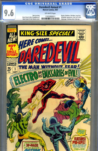 Daredevil Annual #1   CGC graded 9.6 - SOLD!