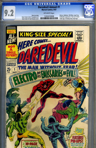 Daredevil Annual #1   CGC graded 9.2 - SOLD!