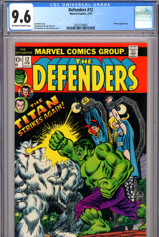Defenders #12 CGC graded 9.6 - John Romita cover SOLD!