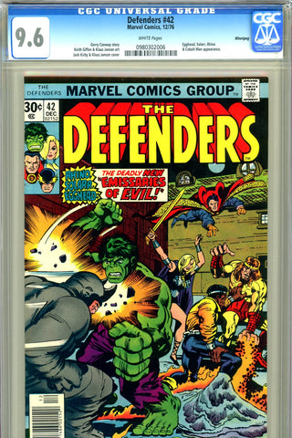 Defenders #42 CGC graded 9.6 - New Emissaries of Evil