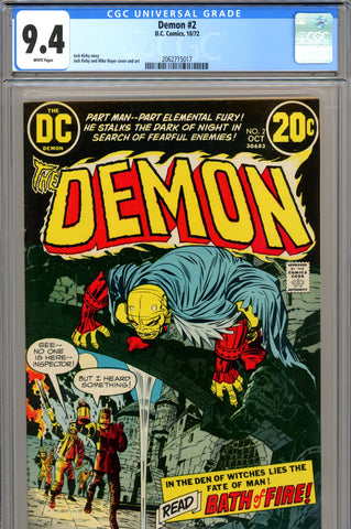 Demon #02 CGC graded 9.4 - white pages