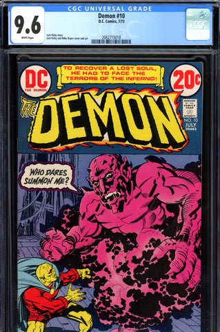 Demon #10 CGC graded 9.6 - white pages