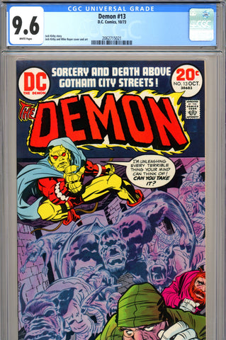 Demon #13 CGC graded 9.6 - white pages