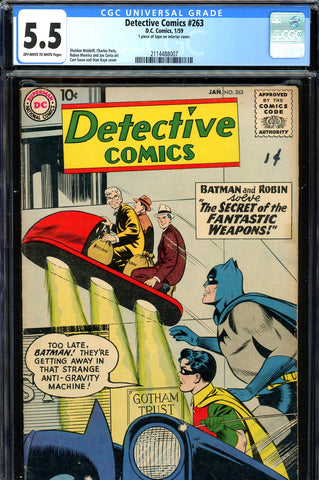 Detective Comics #263 CGC graded 5.5  Curt Swan cover (1959) SOLD!