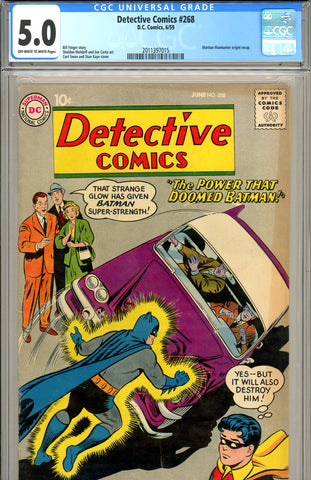 Detective Comics #268 CGC graded 5.0 Manhunter origin - SOLD!
