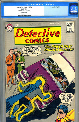 Detective Comics #268   CGC graded 9.4 - SOLD