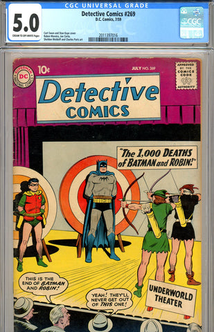 Detective Comics #269 CGC graded 5.0 - SOLD!