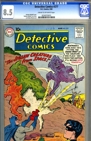 Detective Comics #277   CGC graded 8.5 - SOLD!