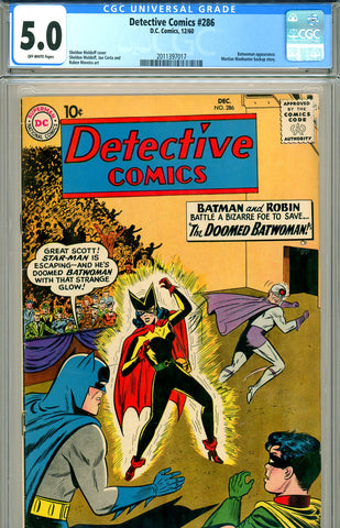 Detective Comics #286 CGC graded 5.0 Batwoman appearance SOLD!