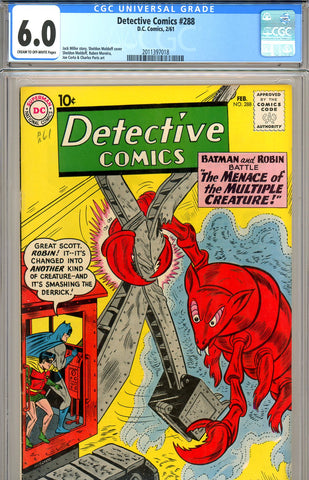 Detective Comics #288 CGC graded 6.0 - SOLD!