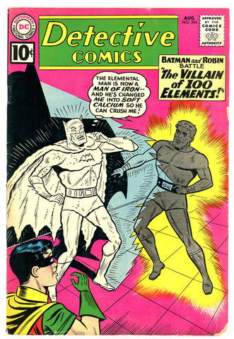 Detective Comics #294   VERY GOOD   1961