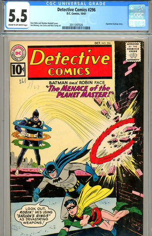 Detective Comics #296 CGC graded 5.5 SOLD!
