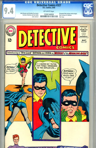 "Detective Comics #327  CGC graded 9.4  first ""New Look"" Batman and costume"