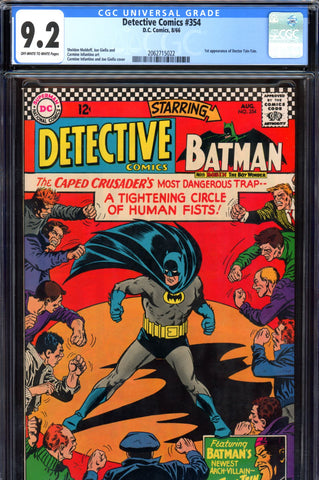 Detective Comics #354 CGC graded 9.2 first Doctor Tzin-Tzin