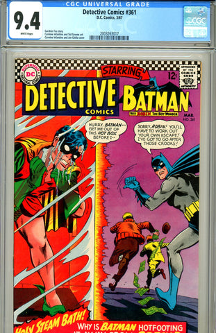 Detective Comics #361 CGC graded 9.4 white pages