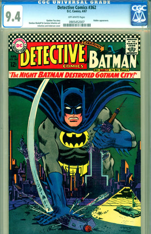 Detective Comics #362 CGC graded 9.4 - SOLD!