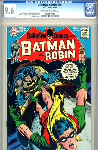 Detective Comics #381   CGC graded 9.6 ow/w pages