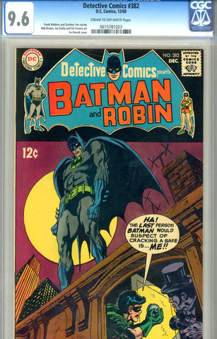Detective Comics #382  CGC graded 9.6 - SOLD!