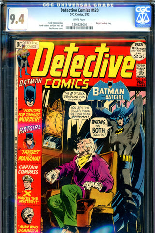 Detective Comics #420 CGC graded 9.4 Neal Adams cover