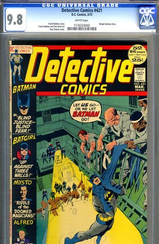 Detective Comics #421   CGC graded 9.8 - HIGHEST GRADED - SOLD!