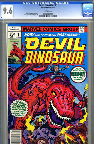 Devil Dinosaur #1  CGC graded 9.6 - white pages - SOLD!