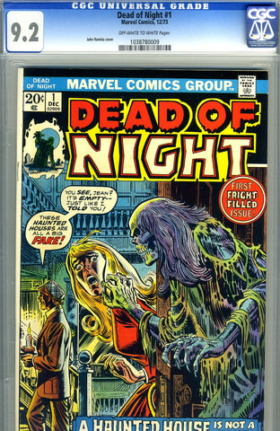 Dead of Night #1   CGC graded 9.2 - SOLD