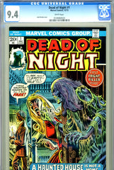 Dead of Night #01 CGC graded 9.4  white pages
