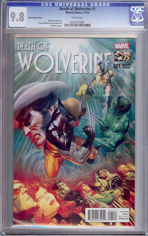 Death of Wolverine #1  CGC graded 9.8 - Ross Cover - HIGHEST GRADED - SOLD!