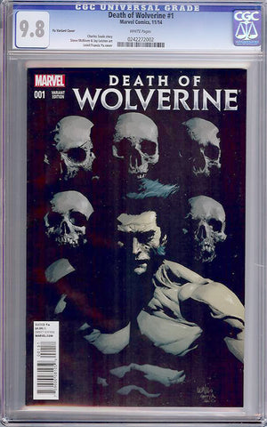 Death of Wolverine #1  CGC graded 9.8 - Yu Variant - HIGHEST GRADED - SOLD!