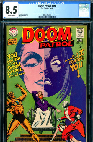 Doom Patrol #118 CGC graded 8.5 SOLD!